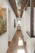 Sky-lit hallway