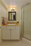 Lower bathroom and utility room